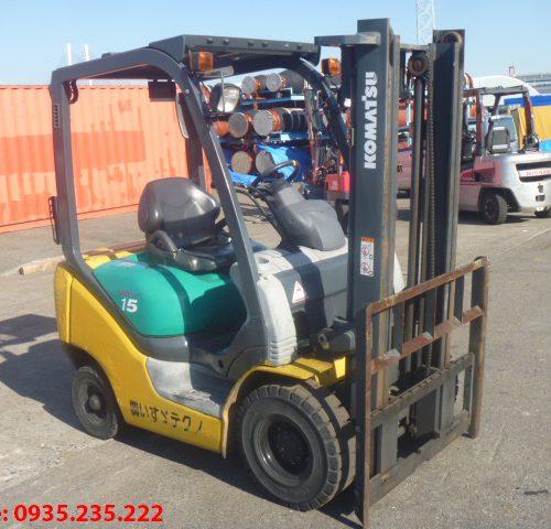 Xe nâng dầu Komatsu cũ 1.5 tấn 2002