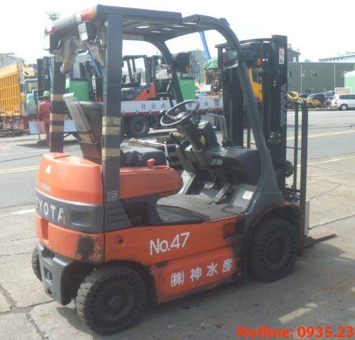 Xe nâng điện Toyota cũ 1.5 tấn 2011