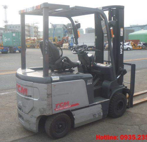 Xe nâng điện TCM cũ 2.5 tấn 2010